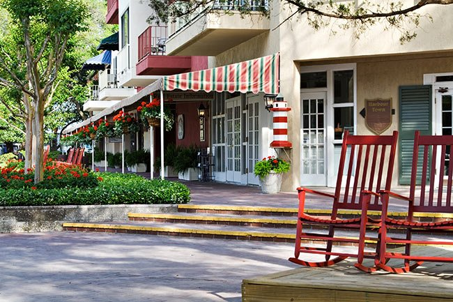 Storefronts in Hilton Head