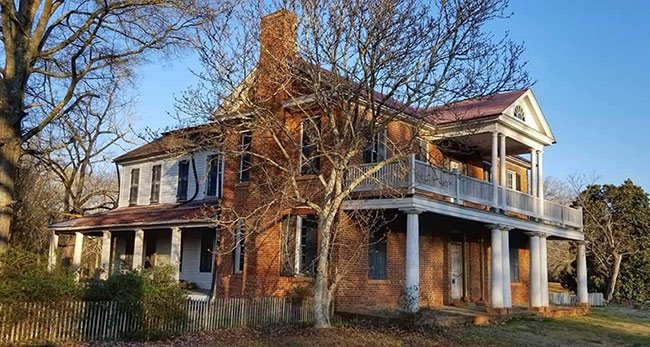 Historic Brattonsville Brick House Front