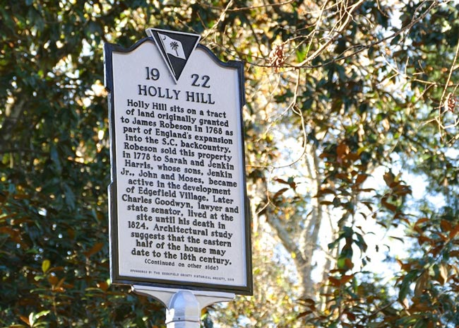 Holly Hill Edgefield Marker