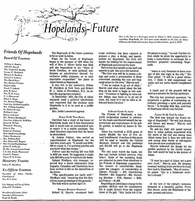 Hopelands Garden Future