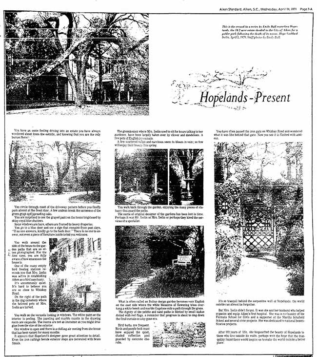 Hopelands Gardens Present