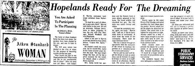 Hopelands Garden Article