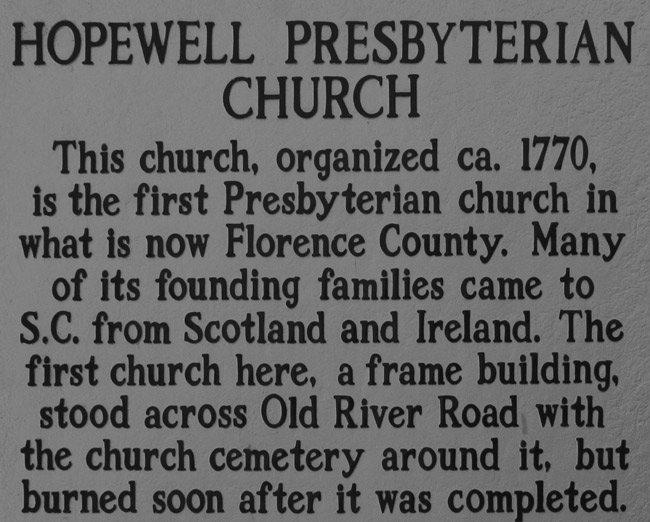 Hopewell Presbyterian Marker
