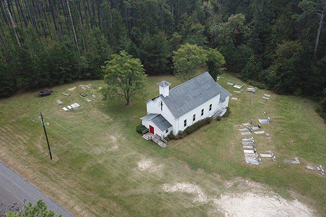 Hopewell Rosenwald School Drone