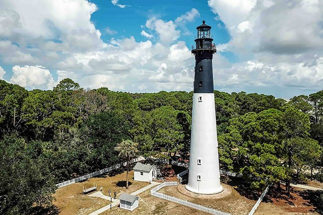 Hunting Island Lighthouse Aerial