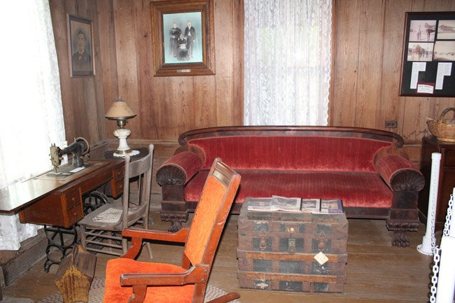 Inside of a Browntown Cabin