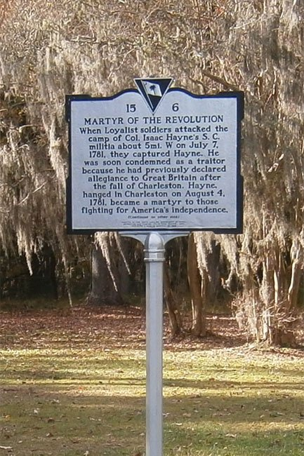 Isaac Hayne Martyr of the American Revolution