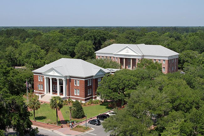 Jasper County Courthouse Aerial