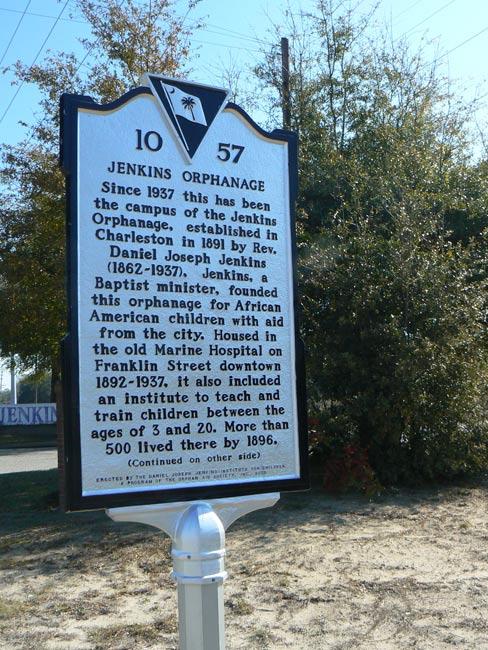 Jenkins Orphanage Sign