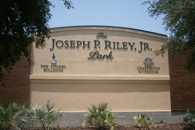 Joe Riley Park Sign