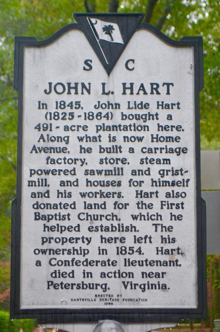John Hart Historical Marker