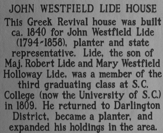 John W. Lide Marker