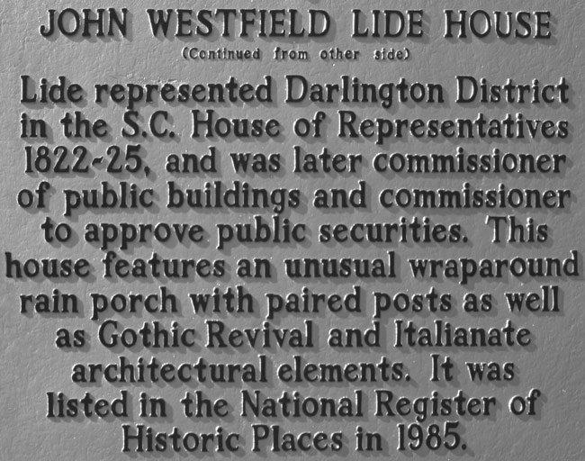 John Westfield Lide Marker