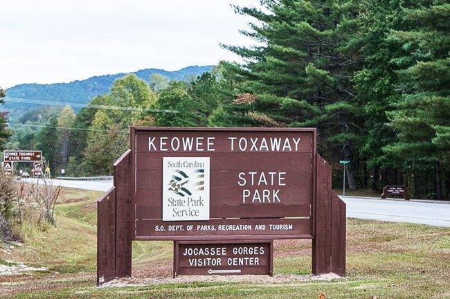 Keowee Toxaway State Park Sign