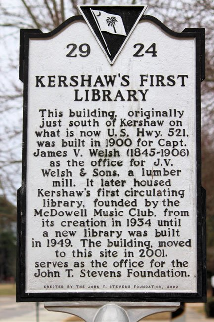 Kershaw Library Marker