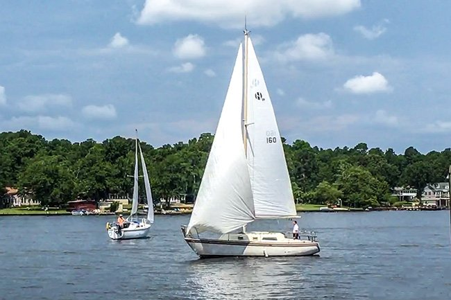 Sailboats on Lake Marion