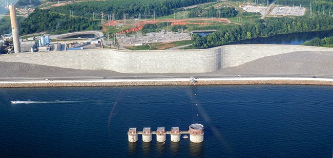 Lake Murray Intake Towers Aerial