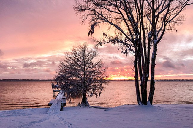 Lake Marion in Snow