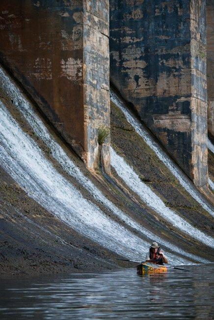 Lake Wylie Dam Kayaker