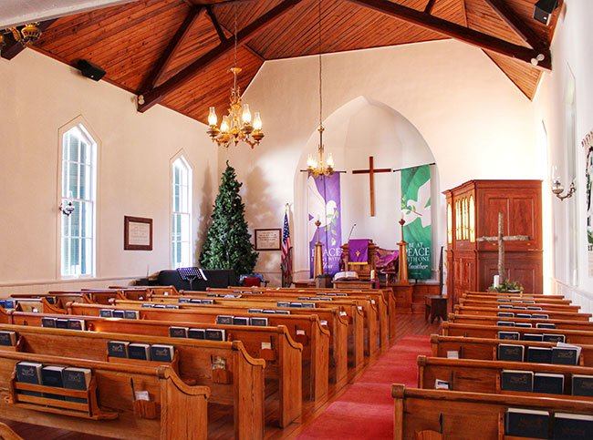 Liberty Hill Presbyterian Church Interior