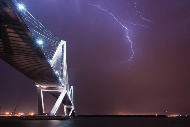 Lightening Strikes Ravenel Bridge