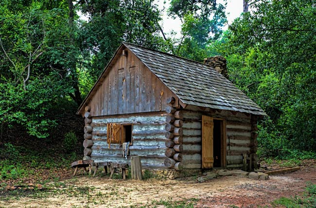 colonial blacksmith house. living history park north augusta colonial blacksmith house d