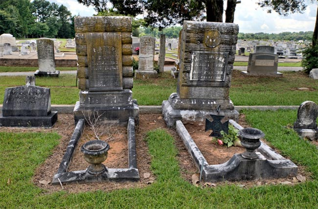 Long Cane Cemetery Headstones