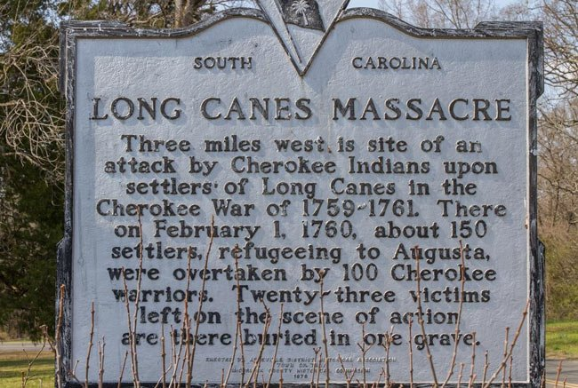 Long Cane Massacre Marker