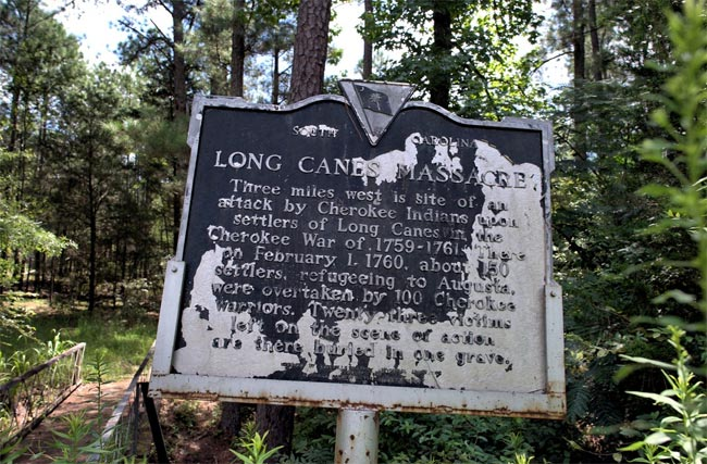 Long Canes Massacre Marker