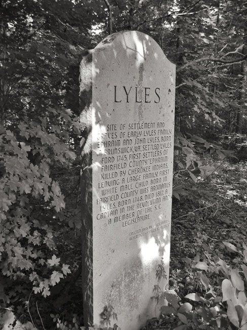 Lyles Family Marker Fairfield County