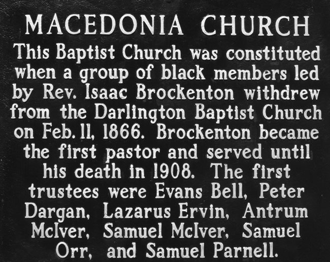 Macedonia Church Marker