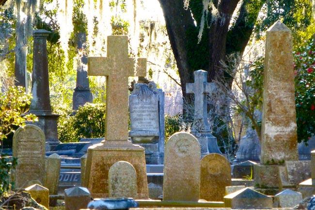 Magnolia Cemetery Markers