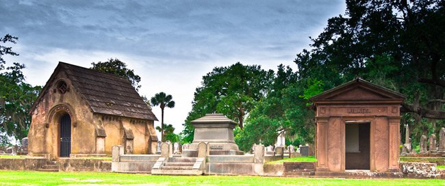 Tombs at Magnolia Cemetery in Charleston