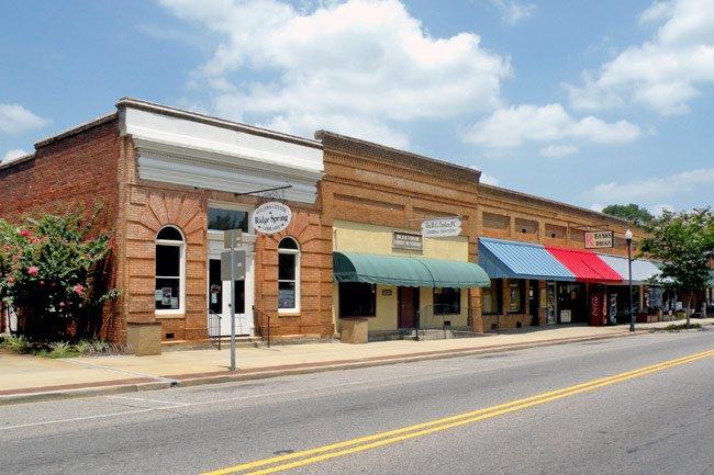 Main Street in Ridge Spring SC