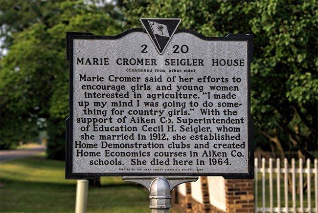 Marie Cromer Seigler House Marker
