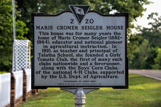 Marie Cromer Seigler Marker