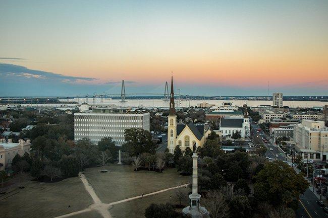 Marion Square Aerial, Charleston