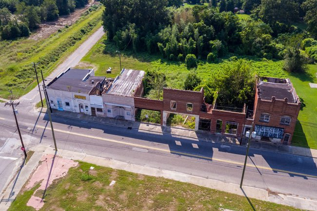 Mayesville Commercial Block Aerial