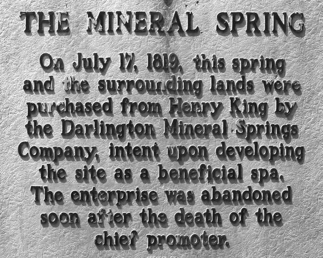 Mineal Spring Marker