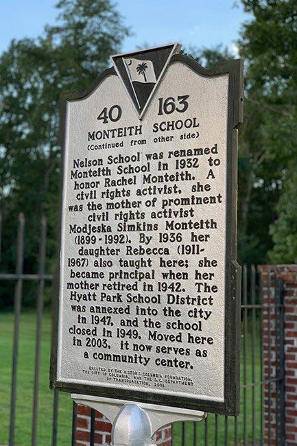 Monteith School Historical Marker, Back