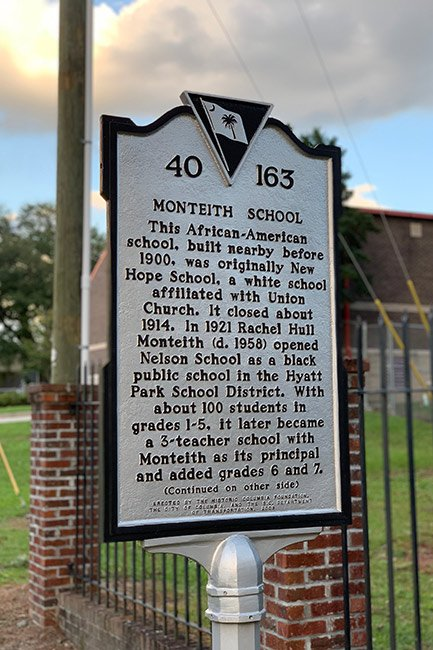 Monteith School Historical Marker