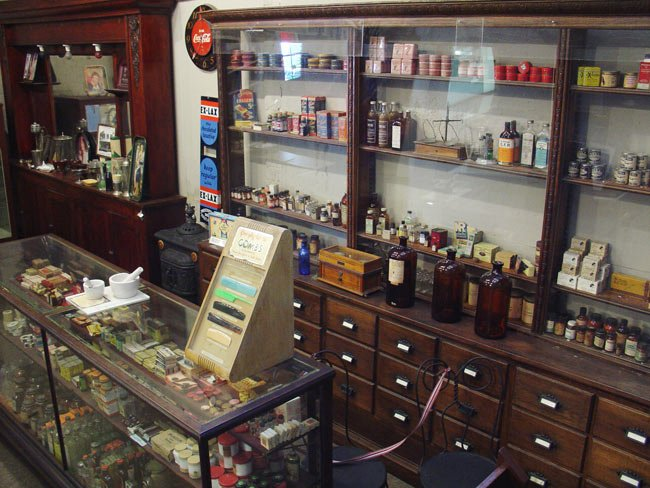 Replica of Moody's Drugstore