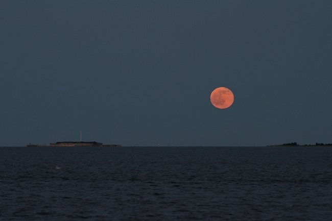 Moon Over Fort Sumter