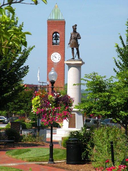 Morgan Statue in Spartanburg's Morgan Square