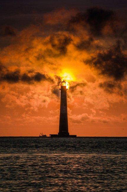 Morris Island Folly Sunset