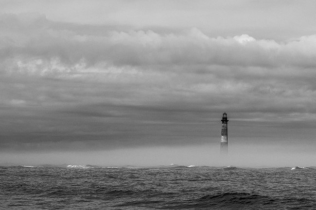 Morris Island Light, Black and White