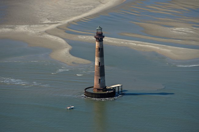Morris Island Lighthouse Aerial