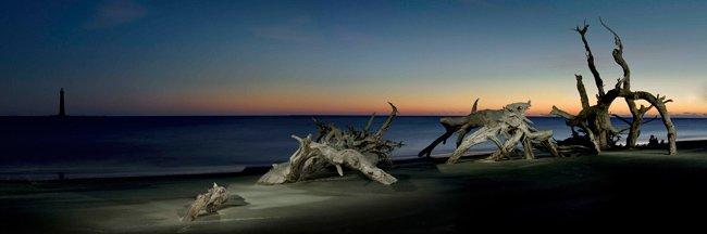 Folly Beach at the Morris Island Light