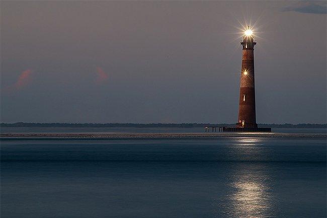 Morris Island Lighthouse Light