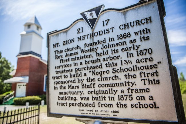 Mt Zion Methodist Marker